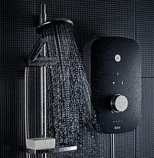 Noctis Black and chrome electric shower - Bristan