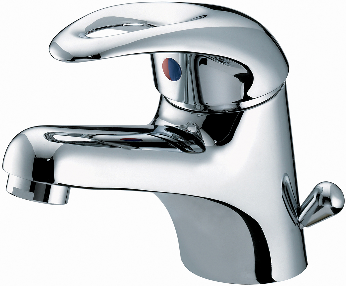 Basin Mixer with Side Action Pop-up Waste