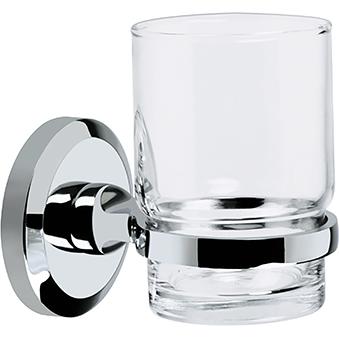 Glass Tumbler & Holder