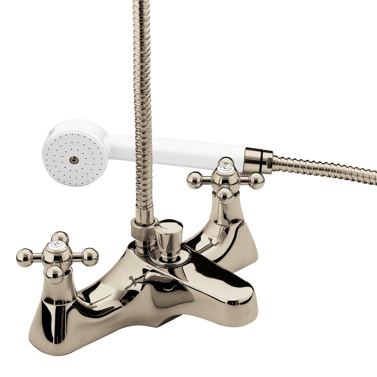 Deck Mounted Bath Shower Mixer - Gold