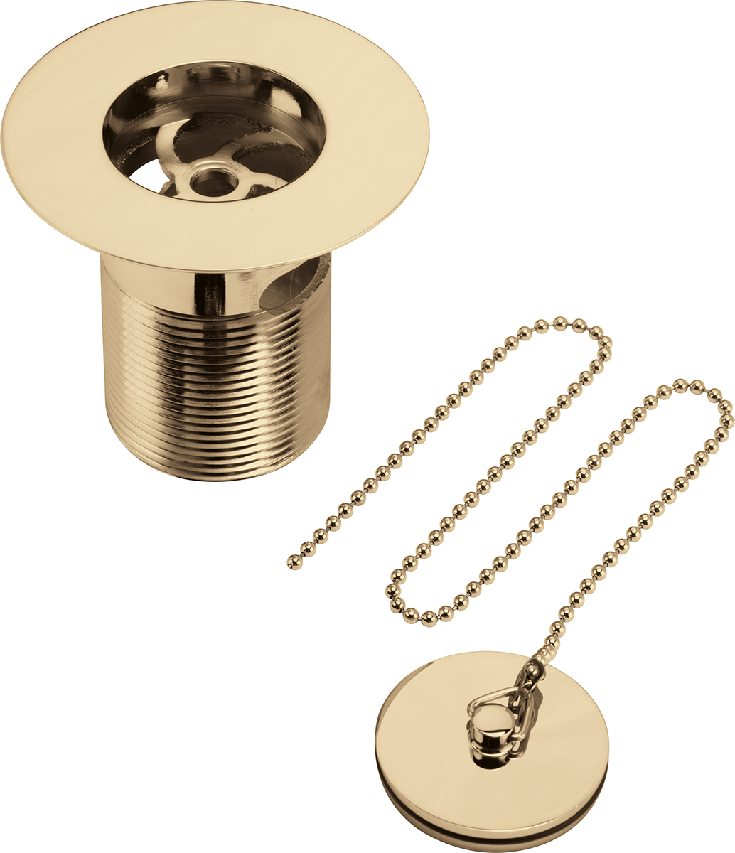 Luxury Sink Waste with Solid Brass Plug - Gold