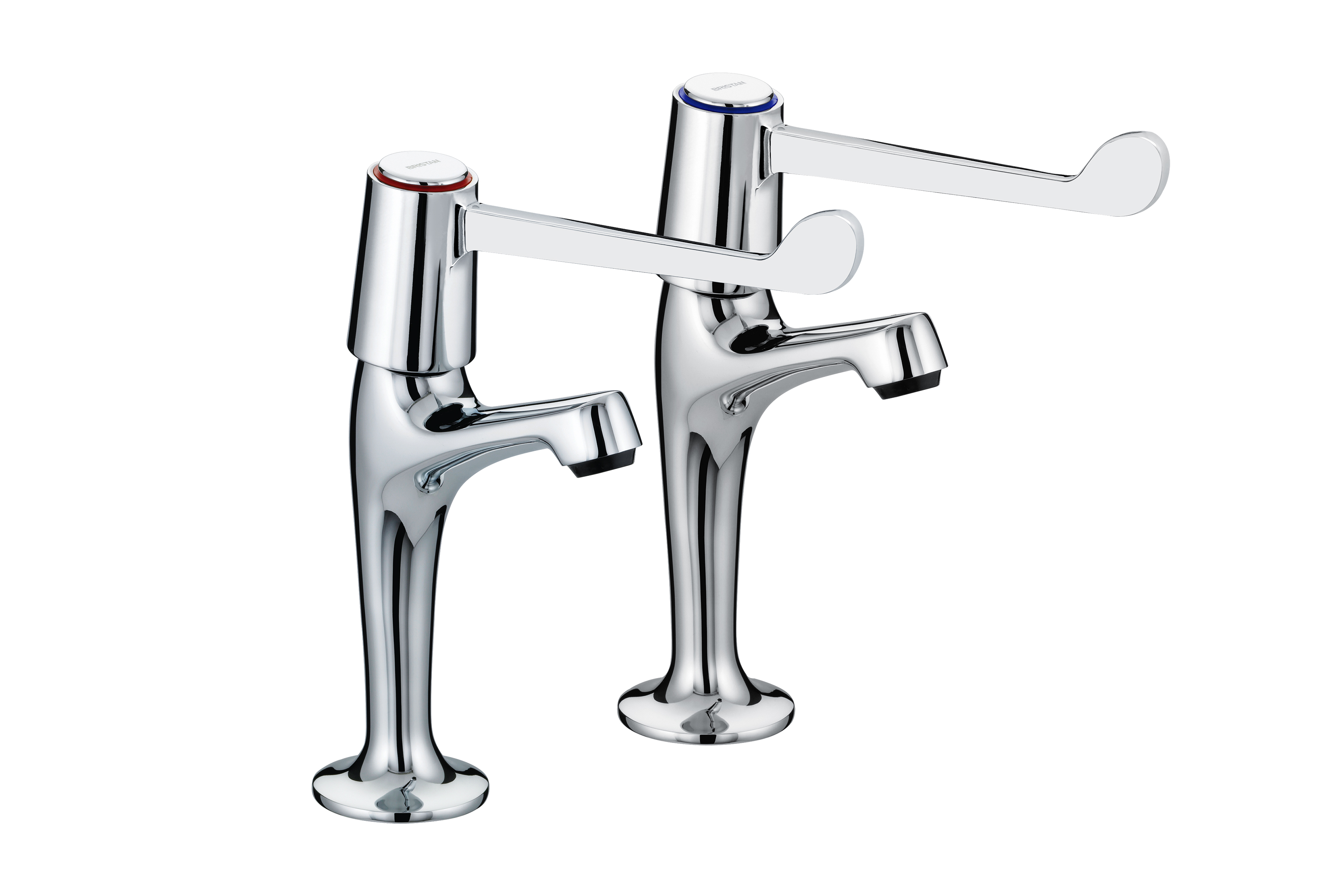 "High Neck Pillar Taps with 6"" (152mm) Levers"