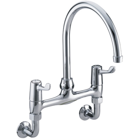"""Wall Mounted Sink Mixer with 6"""" (152mm) Levers"""