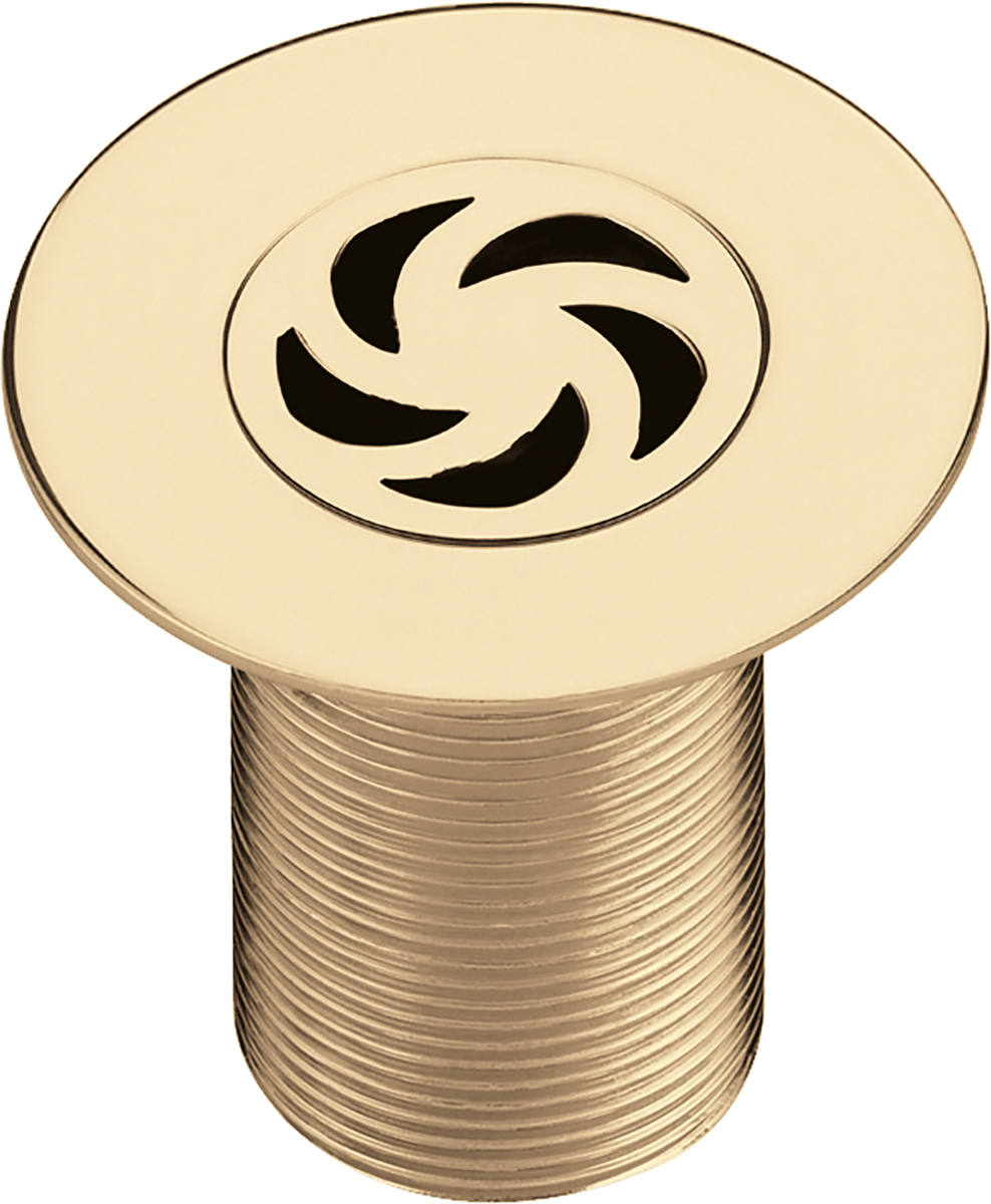 Luxury Shower Waste with 85mm Flange - Gold