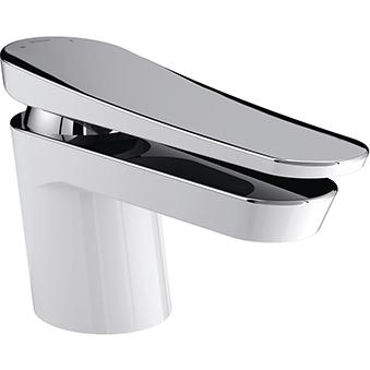 Basin Mixer (without Waste) - White & Chrome