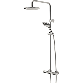 Thermostatic Bar Shower with Rigid Riser