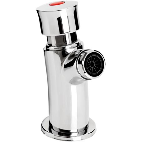 Soft Touch Wall Mounted Basin Tap (with flow regulator)