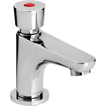 Soft Touch Pillar Basin Tap (with flow regulator)