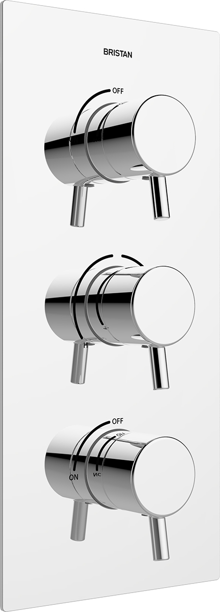 Recessed Concealed Shower Valve with Twin Stopcocks