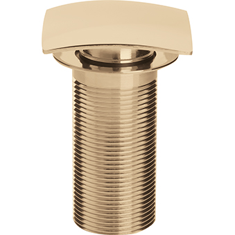 Square Clicker Basin Waste Unslotted - Gold