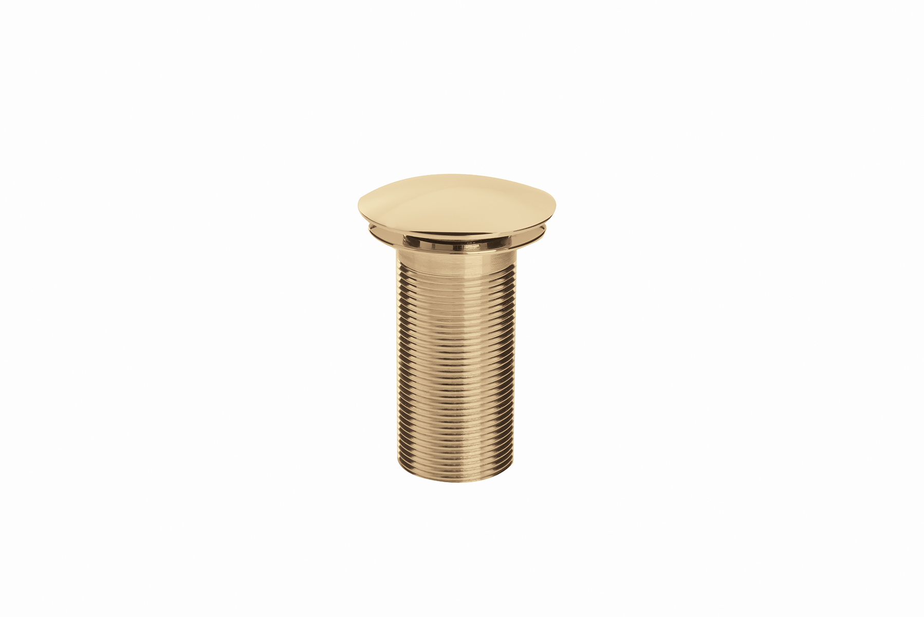 Round Clicker Basin Waste Unslotted - Gold