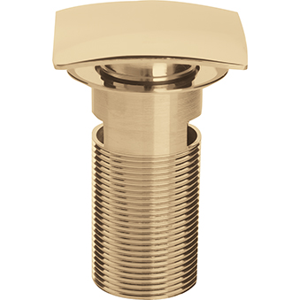 Square Clicker Basin Waste Slotted - Gold
