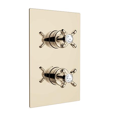 Recessed Concealed Shower Valve with Diverter - Gold