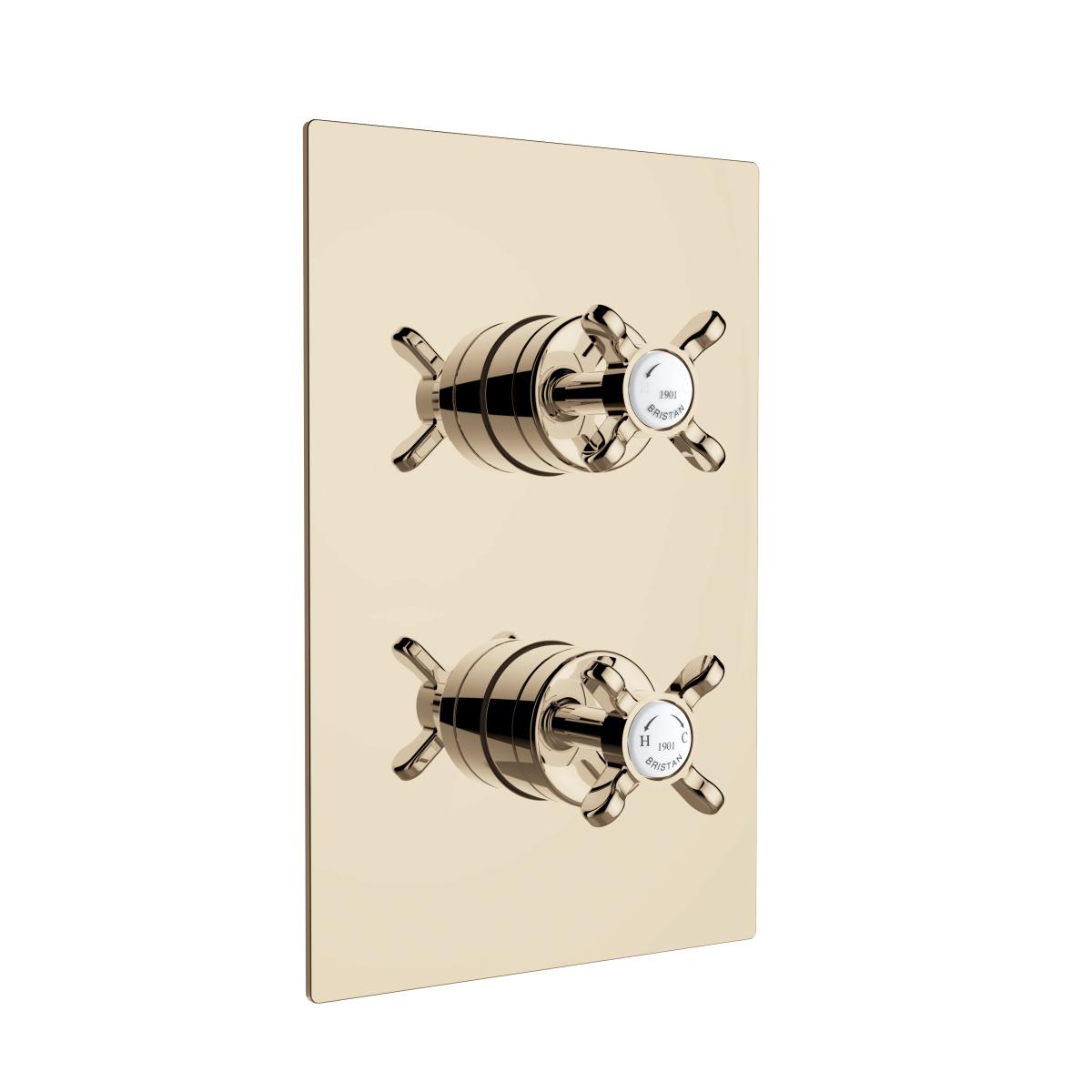 Recessed Concealed Shower Valve - Gold