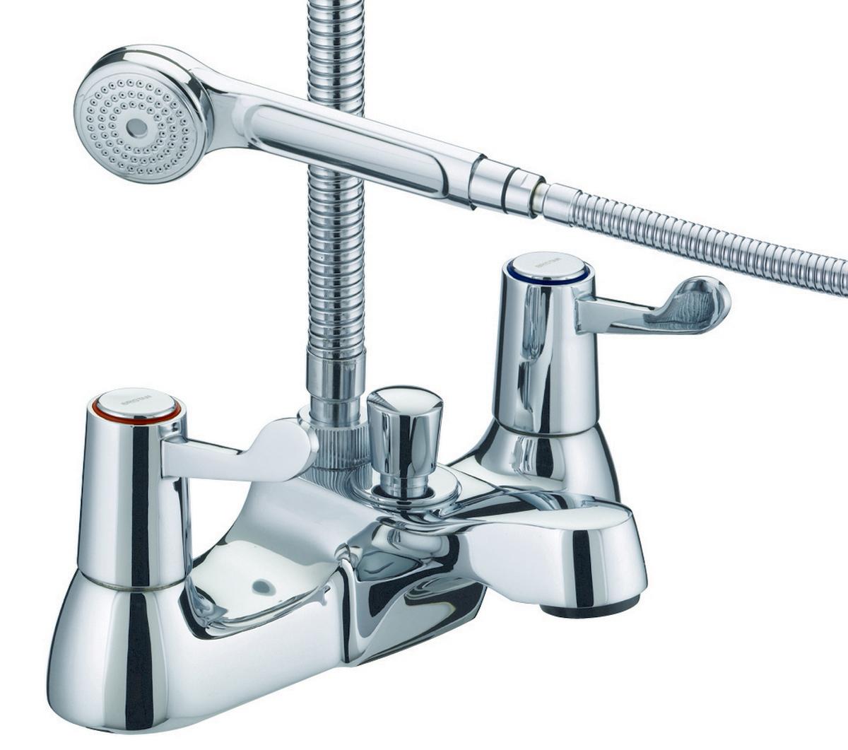 """Bath Shower Mixer with 3"""" (76mm) Levers - 6 Litre Flow Limit"""