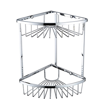 Two Tier Corner Fixed Wire Basket