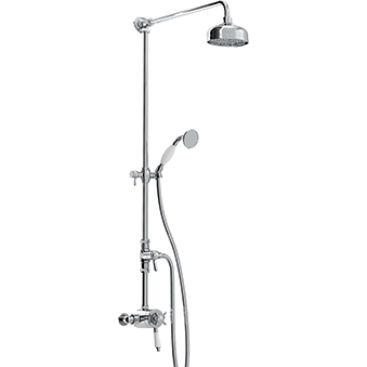 Thermostatic Exposed Dual Control Shower with Rigid Riser
