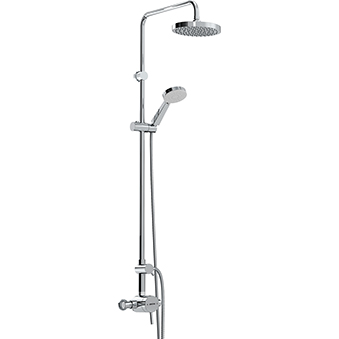 Exposed Single Control Shower with Rigid Riser