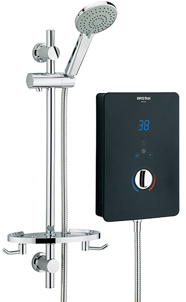 Electric Shower 9.5kW - Black