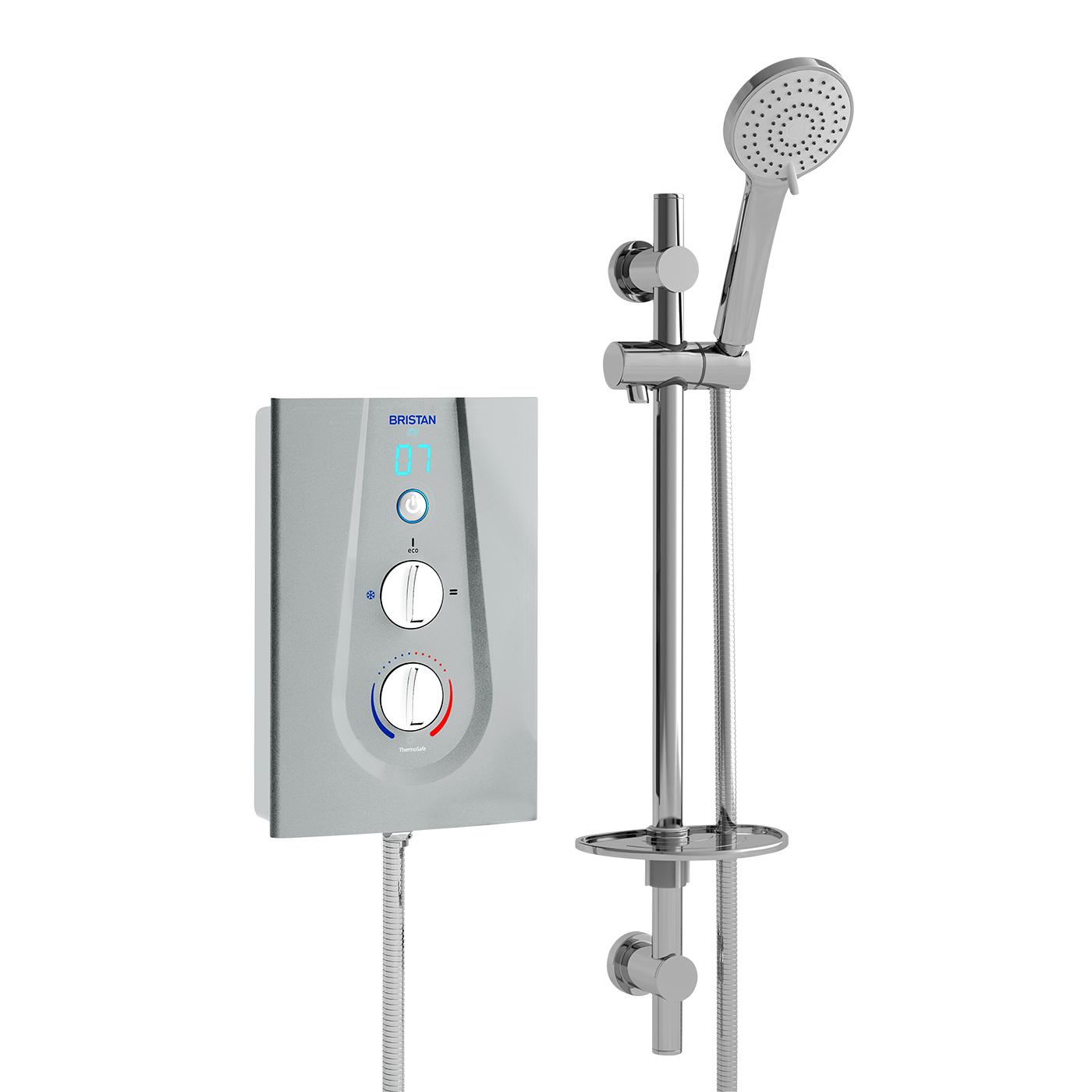Thermostatic 9.5kW - Metallic Silver