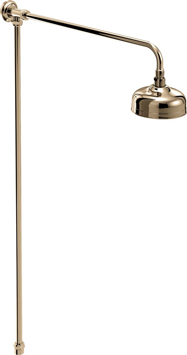 Traditional Rigid Riser Shower Kit - Gold