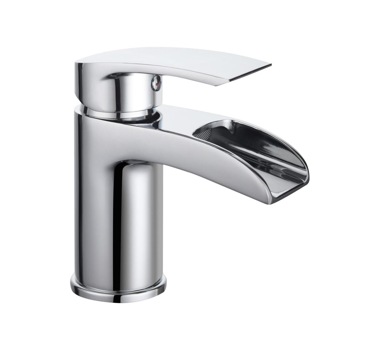 Waterfall Basin Mixer without Waste