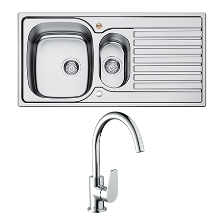 1.5 Bowl Kitchen Sink Uni + RSP