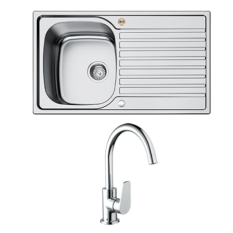 1.0 Bowl Kitchen Sink Uni + RSP