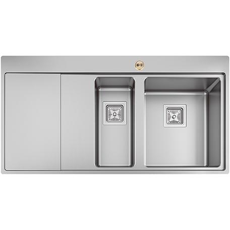 1.5 Bowl Kitchen Sink Left Drainer