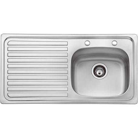 1.0 Bowl Kitchen Sink Left Drainer