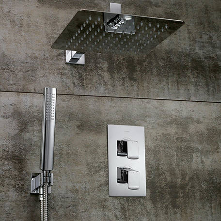 Thermostatic Shower Pack with Fixed Head and Wall Outlet Handset