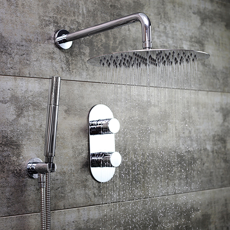 Shower Pack with Fixed Head and Wall Outlet Handset