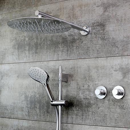 Shower Pack with Fixed Head and Adjustable Kit