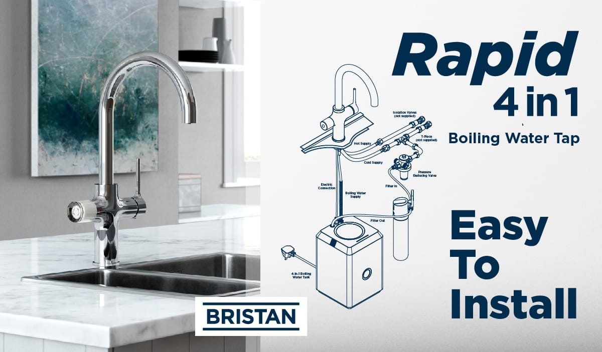 Easy to Install - 4 in 1 Boiling Water Tap
