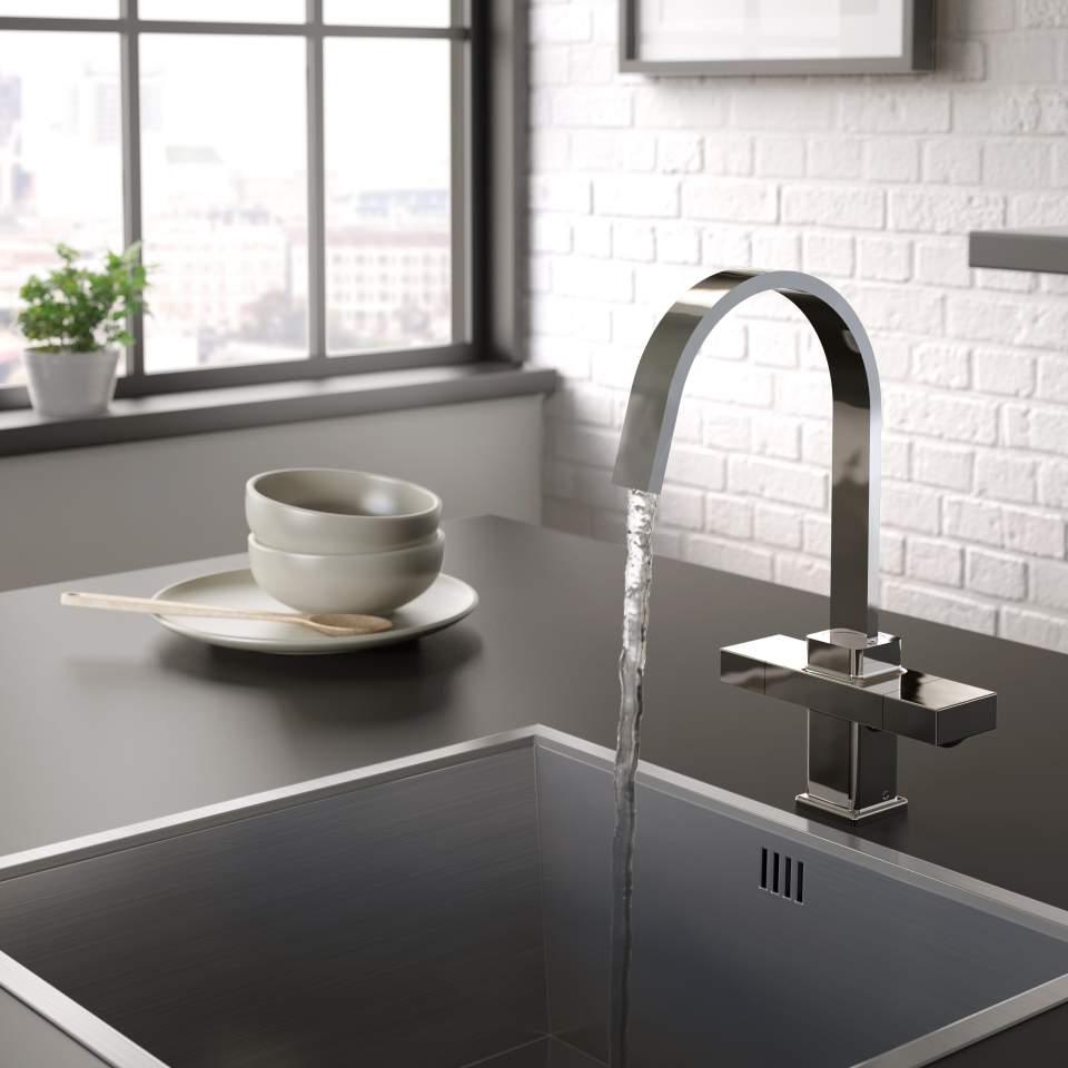 Chocolate kitchen sink tap Bristan