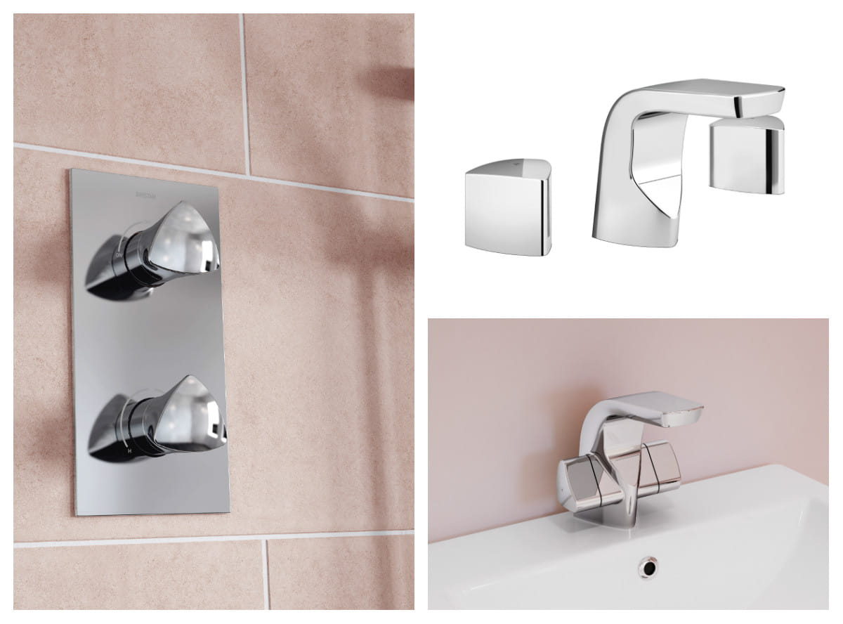 Bright Designer collection taps and showers Bristan