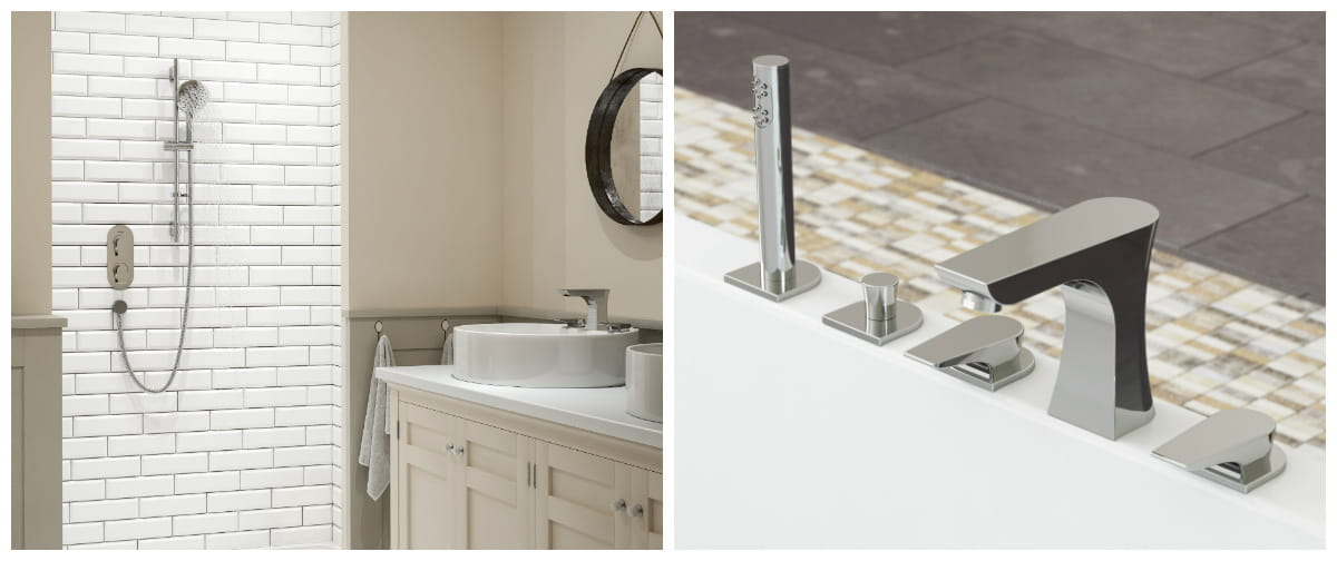 Hourglass designer collection taps and showers Bristan