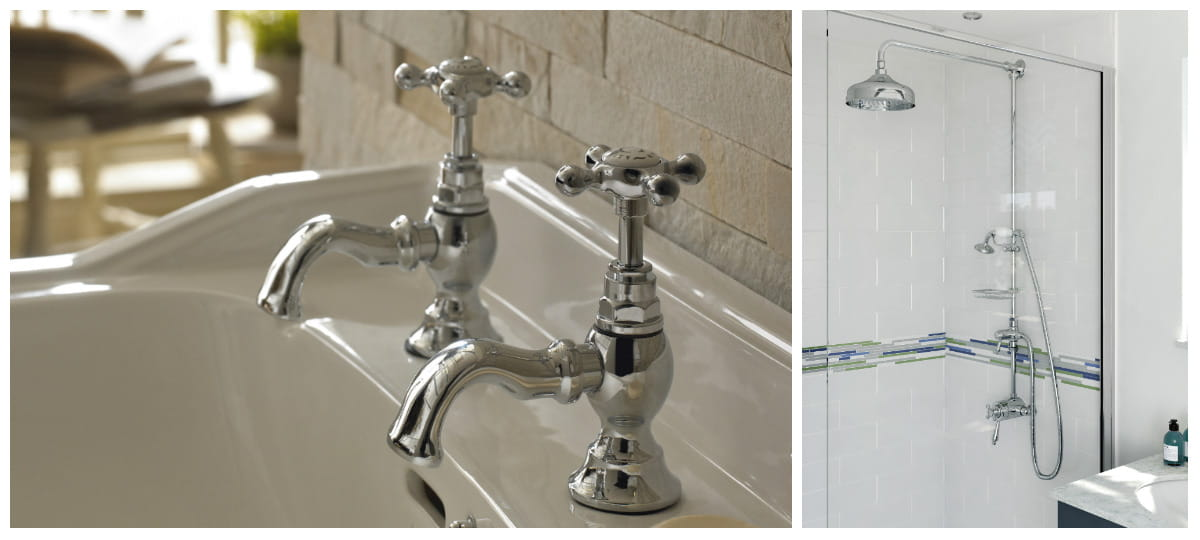 Trinity designer collection taps and showers Bristan