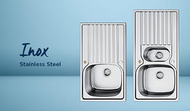 Kitchen sink Inox Stainless Steel (Light background)