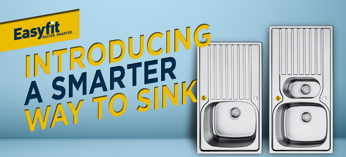 A web banner saying introducing a smarter way to sink