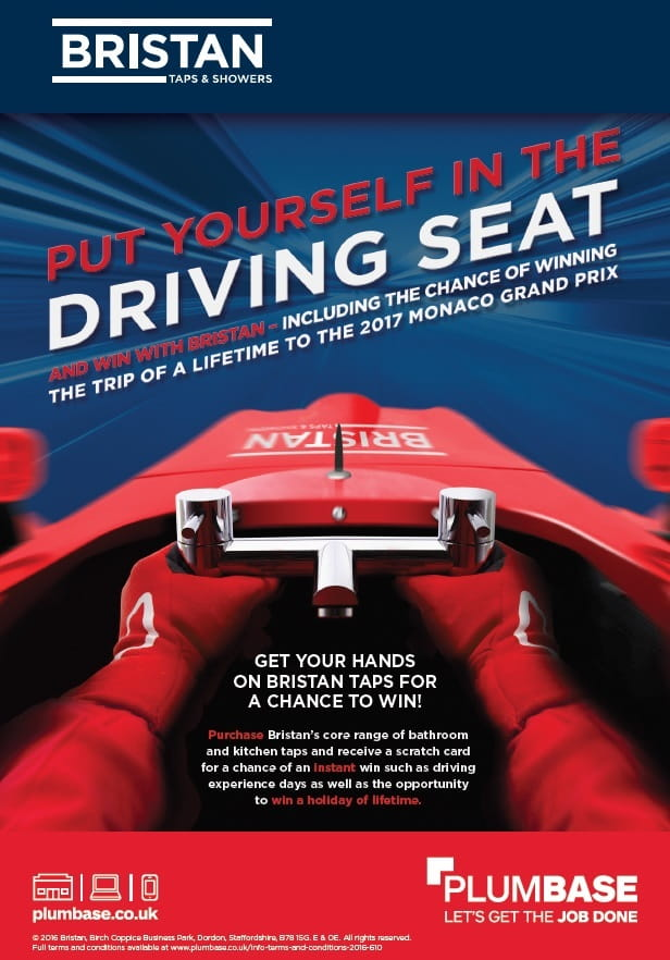 Plumbase put yourself in the driving seat campaign