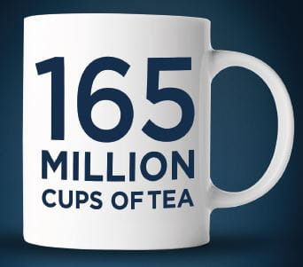 165 million cups of tea