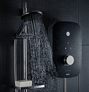 Noctis Black and chrome electric shower - Bristan
