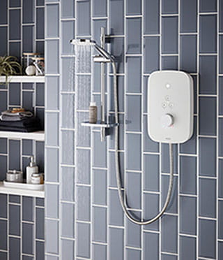 Solis white electric shower
