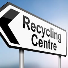 An iStock image of a recycling sign