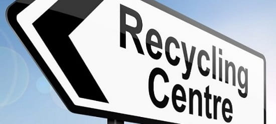 iStock photography of a recycling centre sign