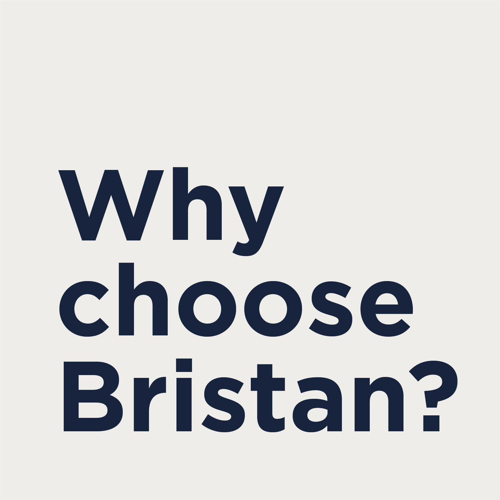 Why Choose Bristan