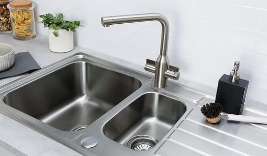 A Bristan kitchen sink and tap
