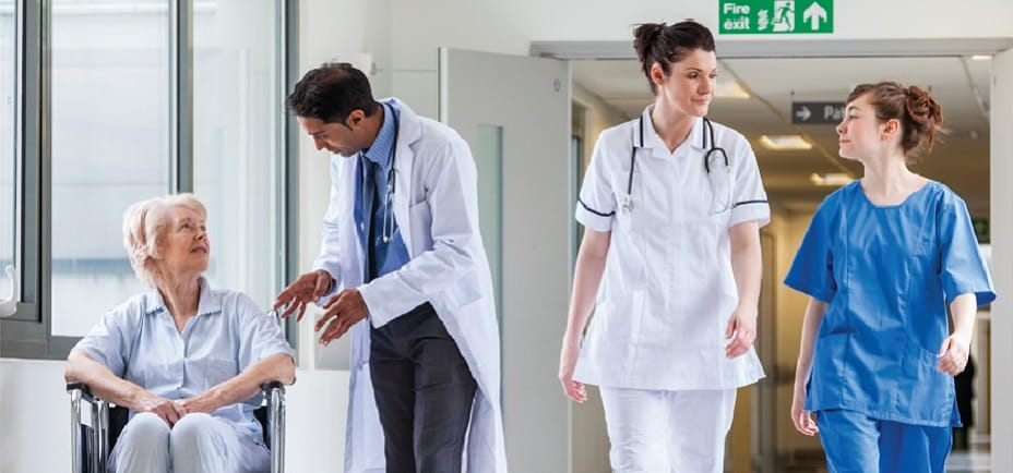 An i stock image of healthcare professionals