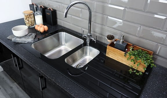 Photography of a Bristan Kitchen Sink and Tap